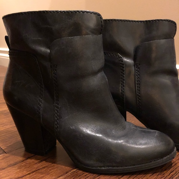 Nine West Distressed Leather Ankle Boot